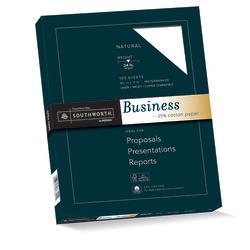 "Southworth® 25% Cotton Business Paper, 8 1/2"" x 11"", 20 Lb, White, Box Of 100"