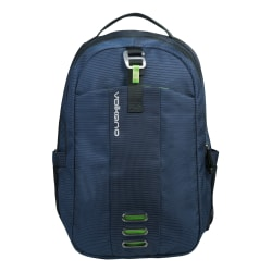 """Volkano Latitude Backpack With 15.6"""" Laptop Compartment, Navy/Lime"""