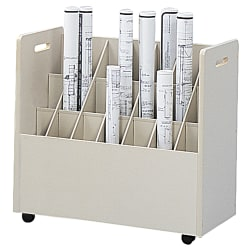 "Safco® Mobile Roll File, 21 Compartments, 3 3/4"" Tubes"