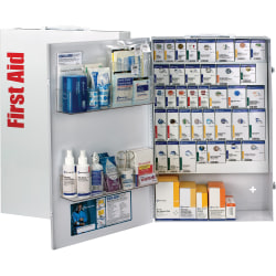 """First Aid Only SmartCompliance XXL 200-Person General Business First Aid Cabinet, 26""""H x 17""""W x 5 3/4""""D, White"""