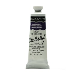 Grumbacher P061 Pre-Tested Artists' Oil Colors, 1.25 Oz, Dioxazine Purple, Pack Of 2