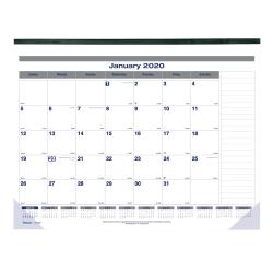 "Blueline® Net Zero Carbon Monthly Desk Pad Calendar, 22"" x 17"", January to December 2020"