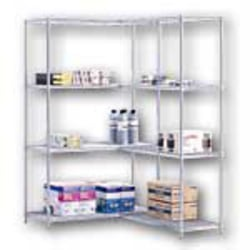 """Safco® Industrial Wire Shelving Add-On Unit, 48""""W x 18""""D, Gray"""