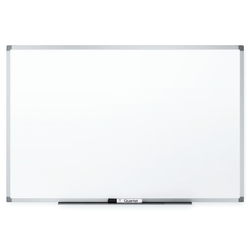 "Quartet® Non-Magnetic Melamine Dry-Erase Whiteboard, 34"" x 48"", Aluminum Frame With Silver Finish"