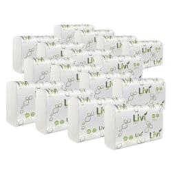 "Livi Solaris Paper Multifold Paper Towels - 1 Ply - Multifold - 9.06"" x 9.45"" - White - Virgin Fiber, Paper - Eco-friendly, Soft, Embossed - For Multipurpose - 250 Per Pack - 16 / Carton"