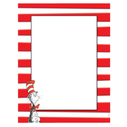"Eureka® Dr. Seuss™ The Cat In The Hat™ Computer Paper, Letter Size (8 1/2"" x 11""), 24 Lb, Multicolor, 50 Sheets Per Ream, Case Of 6 Reams"
