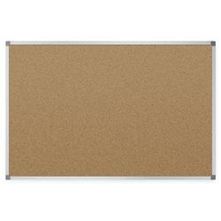 "Quartet® Basic Cork Bulletin Board, 48"" x 36"", Silver Aluminum Frame"