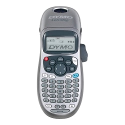 "Dymo LetraTag LT-100H Electronic Label Maker - Thermal Transfer - 0.27 in/s Mono - 180 dpi - Label, Tape - 0.50"" - LCD Screen - Battery - 4 Batteries Supported - AA - Silver - Handheld - ABCD Keyboard, Date Function, Auto Power Off - for Home, Office"