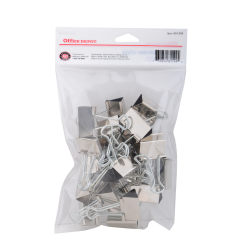 "Office Depot® Binder Clips, Small, 3/4"" Wide, 3/8"" Capacity, Silver, Pack Of 24"