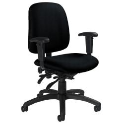 "Global® Goal™ Low-Back Multi-Tilter Task Chair, 36""H x 25""W x 22 1/2""D, Black"