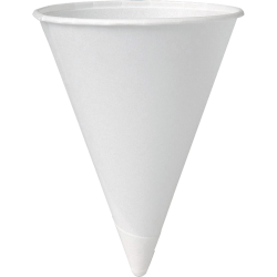 Solo® Paper Cone Water Cups, White, 4 Oz, Case of 5,000