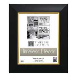 "Timeless Frames® Jordan Award Frame With Satin Finish, 16"" x 20"", Black/Gold"