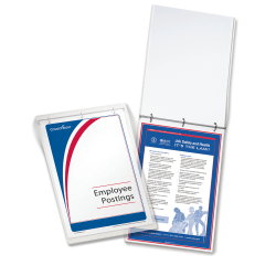 """ComplyRight Federal/State Remote Worksite Labor Law Binder With 1-Year Replacement Service, English, California, 11"""" x 17"""""""