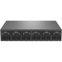 Geist Switched Outlet Level Monitoring EC MNU3EDR1-12S203-3TL21A0E10-S - Power distribution unit (rack-mountable) - AC 120/208 V - 8.6 kW - 3-phase WYE (star) - Ethernet 10/100