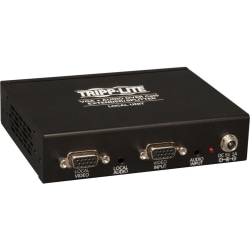 Tripp Lite 4-Port VGA + Audio over Cat5 Cat6 Video Extender Splitter Transmitter - 1 Input Device - 4 Output Device - 1000 ft Range