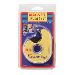 """Dowling Magnets Magnetic Tape, 3/4"""" x 25', Black, Pack Of 6"""