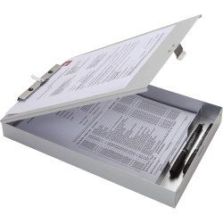 Business Source Form Holder Storage Clipboard, Letter Size, Silver