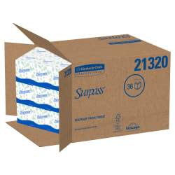 Surpass® 2-Ply Facial Tissue, 45% Recycled, BOUTIQUE™, 110 Sheets Per Box, Case Of 36