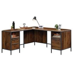 """Sauder® Nova Loft 66""""W L-Desk, Grand Walnut"""