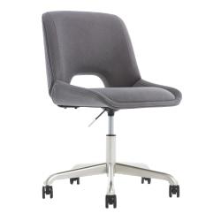 Elle Décor Laissy Low-Back Task Chair, Gray