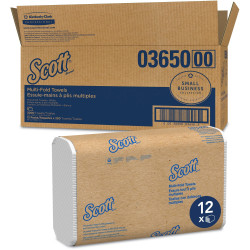 """Scott Essential Multi-Fold Towels - Multifold - 9.25"""" x 9.40"""" - Soft Wheat - Fiber - Eco-friendly, Absorbent, Quick Drying, Durable, Strong - 3000 / Carton"""