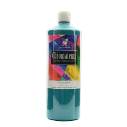 Chroma ChromaTemp Artists' Tempera Paint, 32 Oz, Turquoise, Pack Of 2