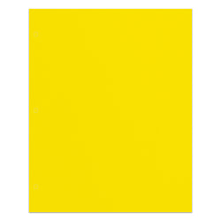 Office Depot® Brand 2-Pocket Paper Folder, Letter Size, Yellow