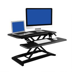 "FlexiSpot AlcoveRiser Sit-To-Stand Desk Converter, 35""W, Black"