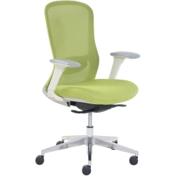 StyleWorks Tokyo Mid-Back Mesh Chair, Citron