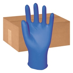 Boardwalk Disposable Nitrile General-Purpose Gloves, Powder-Free, Large, Blue, Box Of 100 Gloves