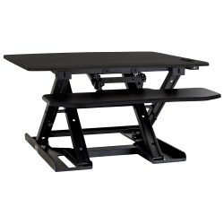 "Mount-It! MI-7965 Electric Standing Desk Converter, 4-5/8""H x 35""W x 23-7/16""D, Black"
