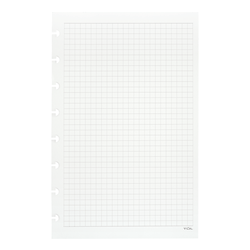 TUL® Discbound Notebook Refill Pages, Junior Size, Graph Ruled, 100 Pages (50 Sheets), White