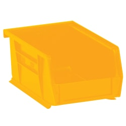 "Office Depot® Brand Plastic Stack & Hang Bin Boxes, Small Size, 9 1/4"" x 6"" x 5"", Yellow, Pack Of 12"