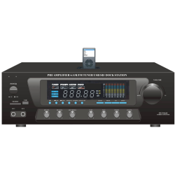 PyleHome PT270AIU AM/FM Receiver - 300 W RMS - 2 Channel - Black - 600 W PMPO - AM, FM - USB - iPod Supported