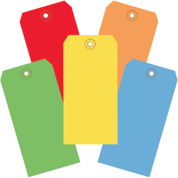 """Office Depot® Brand Shipping Tags, 100% Recycled, 6 1/4"""" x 3 1/8"""", Assorted Colors, Case Of 1,000"""