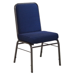 OFM ComfortClass Heavy-Duty Stack Chairs, Pinpoint Navy, Set Of 6