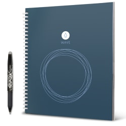 "Rocketbook Wave Cloud-Connected Reusable Smart Notebook, Standard Size, 9.5"" x 8.5"""