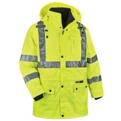Ergodyne GloWear® 8385 Type R Class 3 High-Visibility 4-In-1 Jacket, 5X, Lime