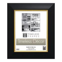 """Timeless Frames® Jordan Frame, 8"""" x 10"""", Black/Gold"""