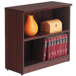 Alera® Valencia Series Bookcase/Storage Cabinet, 2 Shelves, Mahogany
