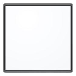 "U Brands PINIT Magentic Dry-Erase Whiteboard, 36"" x 36"", Aluminum Frame With Black Finish"