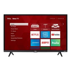 "TCL 32S327 - 32"" Class (31.5"" viewable) - 3-Series LED TV - Smart TV - Roku TV - 1080p (Full HD) 1920 x 1080 - black"