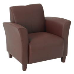 Office Star™ Breeze Bonded Leather Club Chair, Wine