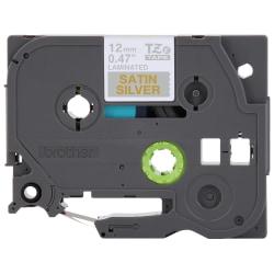 "Brother® TZe-MQ934 Gold-On-Satin Silver Tape, 0.5"" x 196.8"" Tape, 0.5"" x 196.8"""