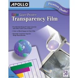 "Apollo Laser OHP Transparency Film, 8 1/2"" x 11"", Box Of 50"