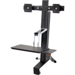 Ergotron® Workfit-S Dual Sit-Stand Workstation, Black