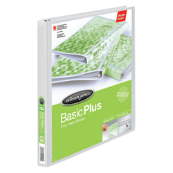 """Wilson Jones® CleanView™ Poly 3-Ring Binder, 3/8"""" Round Rings, White"""