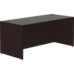 """Lorell® 66""""W Desk, Espresso"""