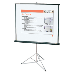 "Quartet® Portable Tripod Projection Screen, 60"" x 60"""