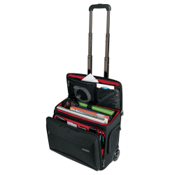 """Ativa™ Mobil-IT Rolling Briefcase Ultimate Carry-On Workmate, 11.5""""H x 17.5""""W x 16.5""""D, Black"""